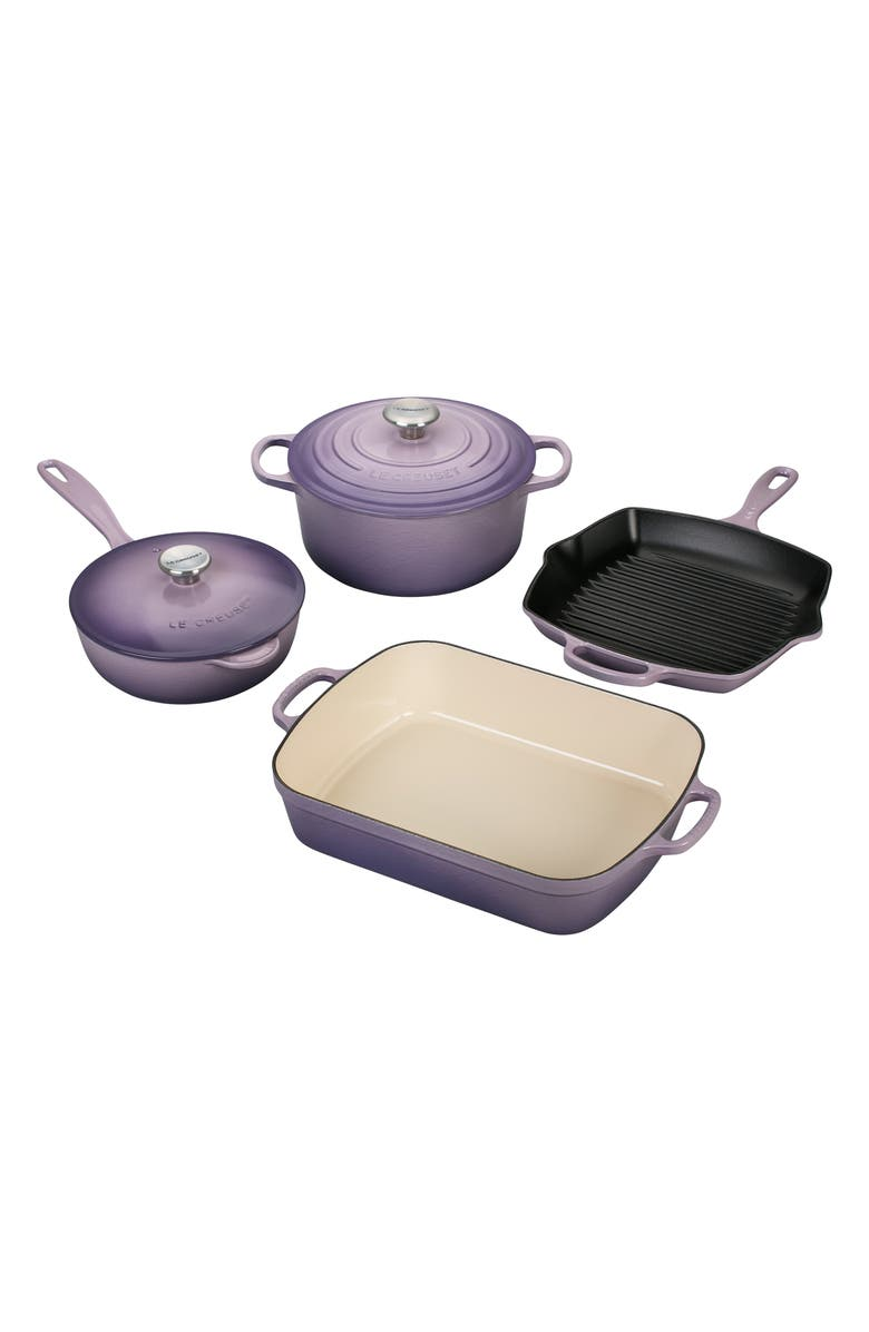 LE CREUSET 6-Piece Signature Enameled Cast Iron Cookware Set, Main, color, 500