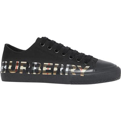 Burberry Larkhall Logo Check Sneaker - Black