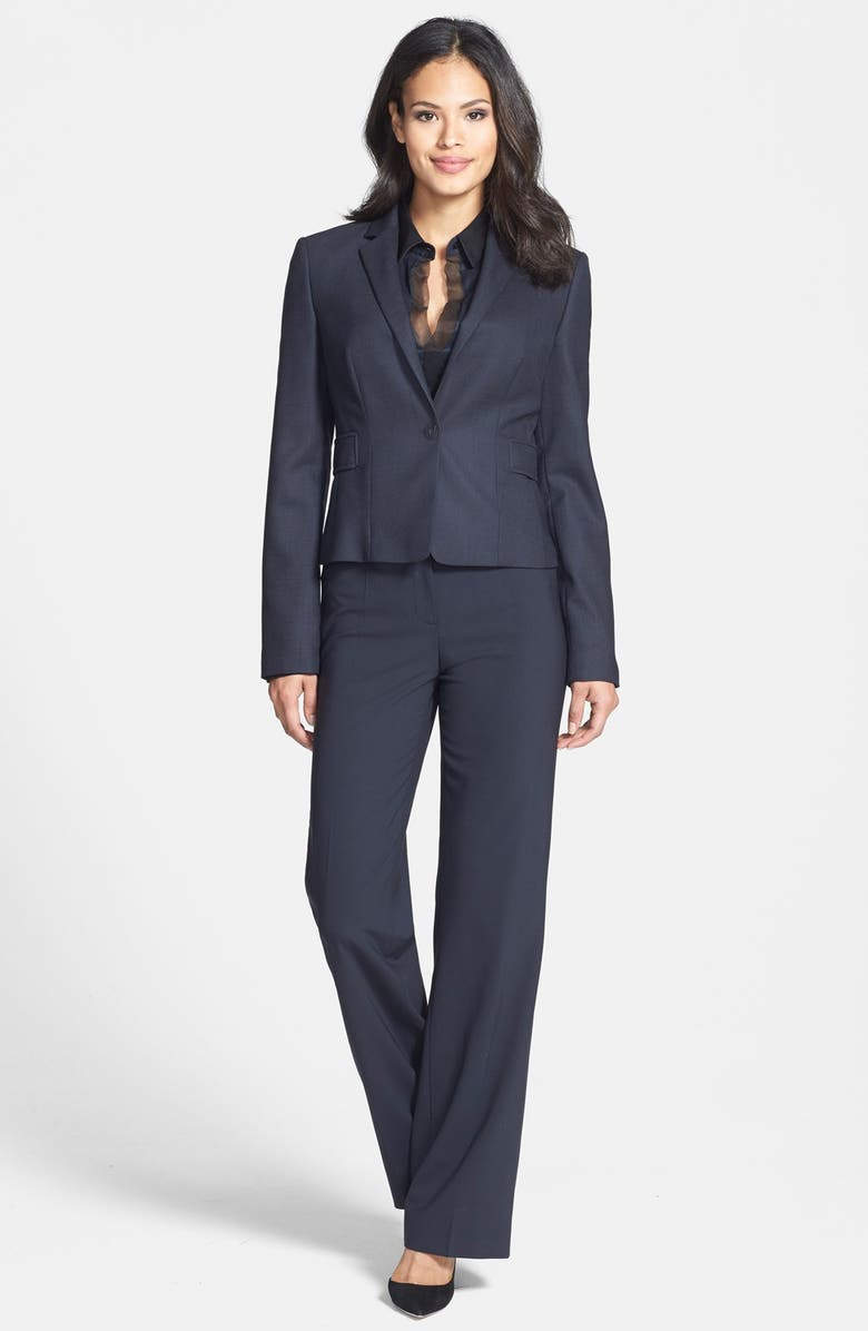 BOSS 'Tuliana 2' Stretch Wool Trousers, Main, color, 413