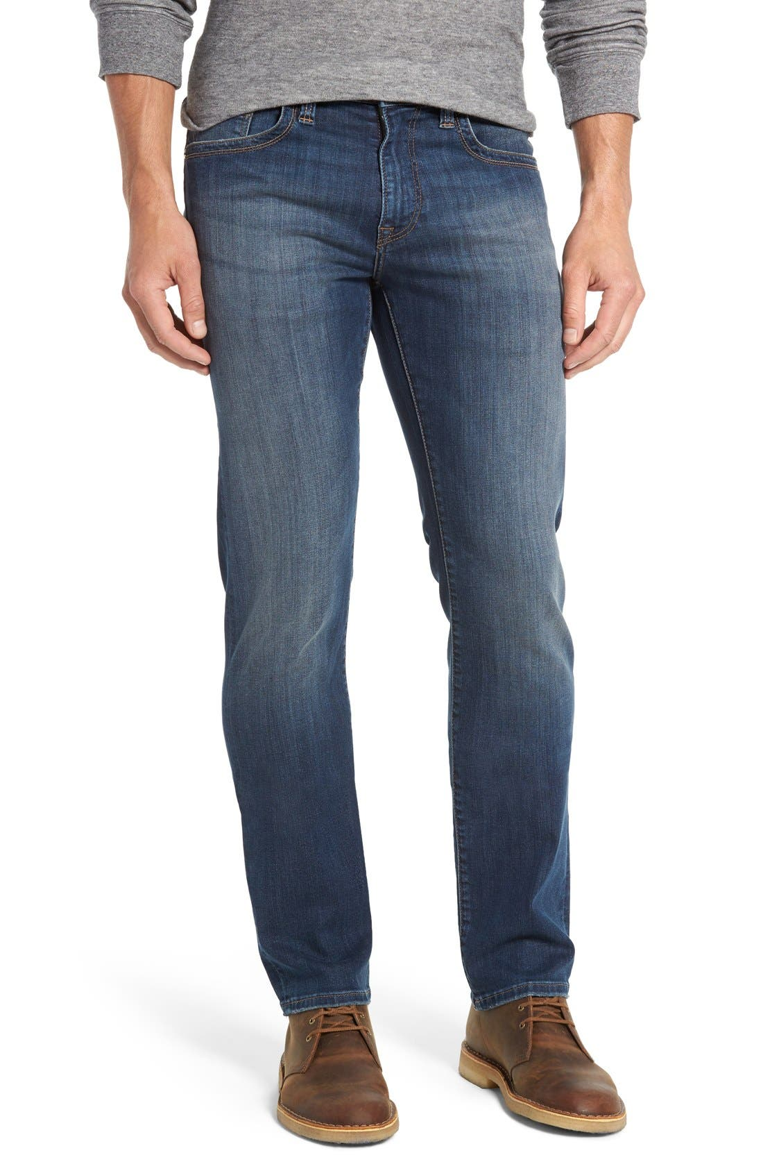 Men's 34 Heritage Courage Straight Leg Jeans,  35 x 32 - Blue