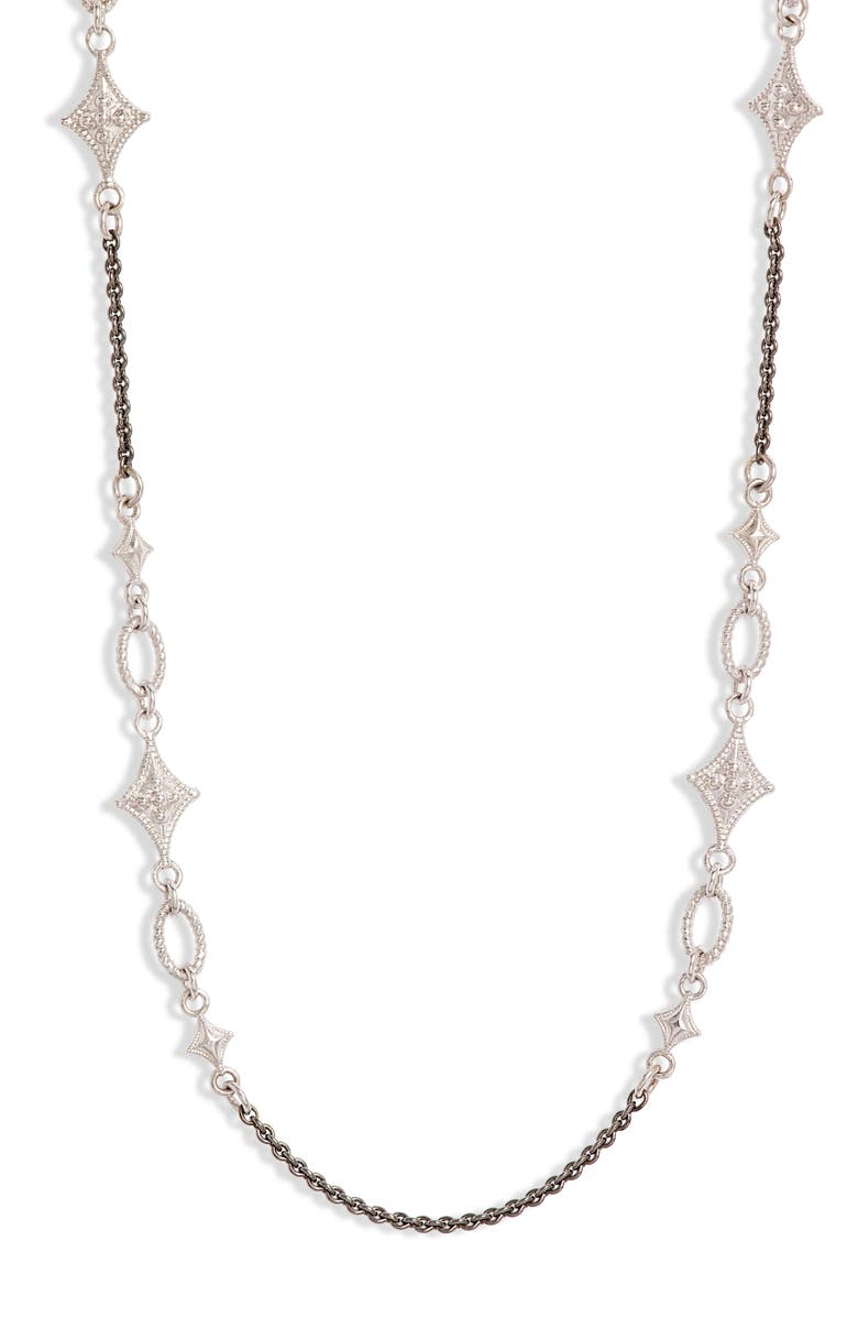 ARMENTA New World Crivelli Station Chain Necklace, Main, color, SILVER