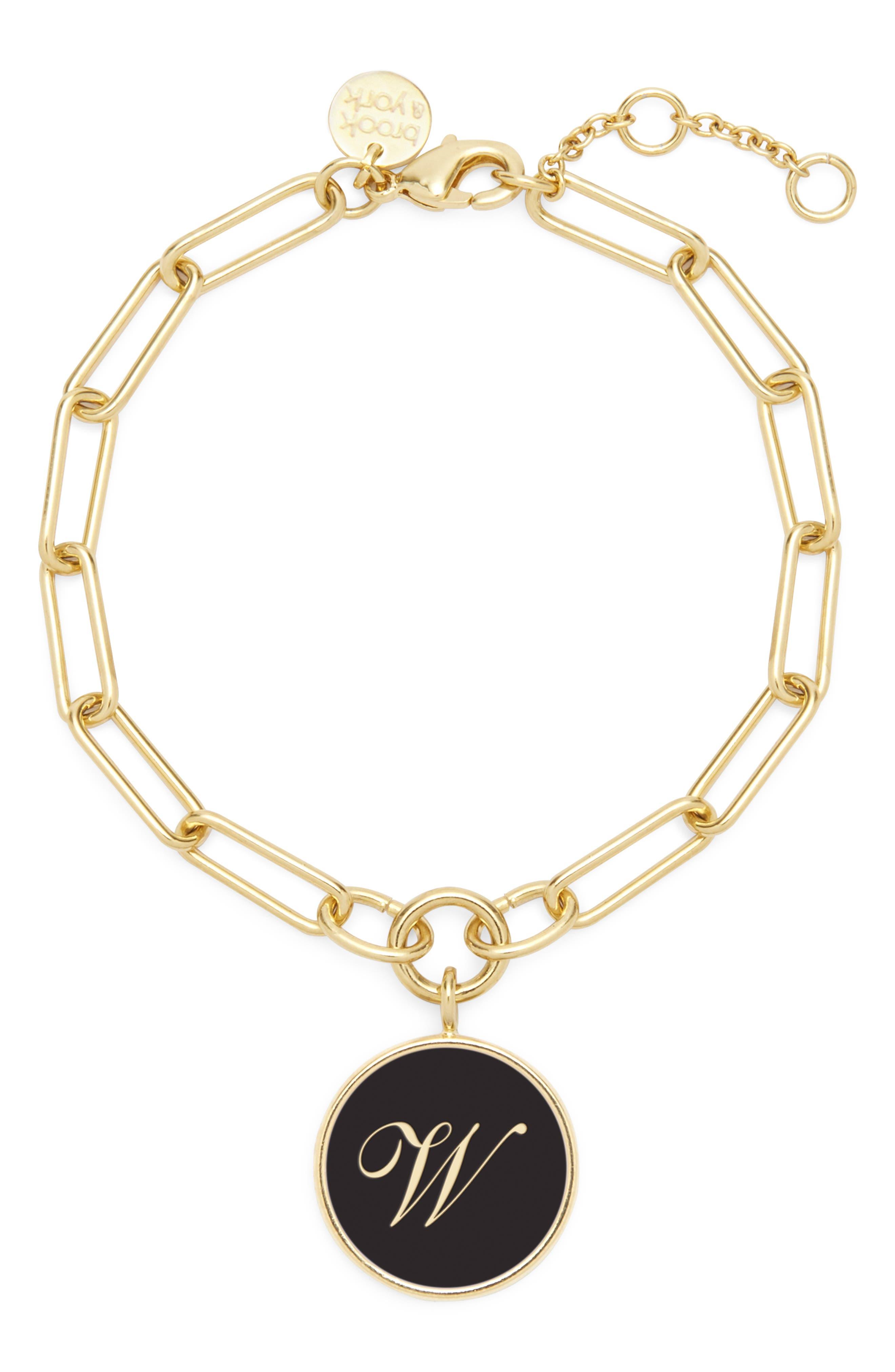 Callie Initial Enamel Pendant Bracelet