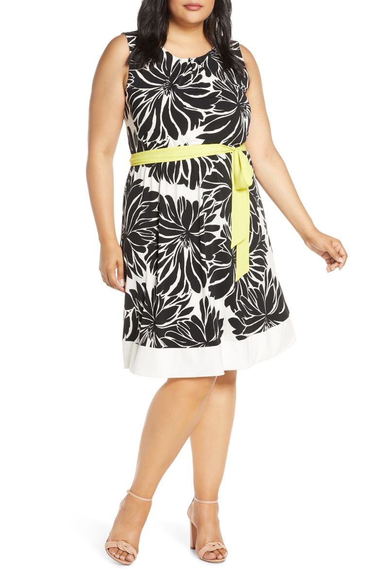 ESTELLE California Floral Dress, Main, color, PRINT