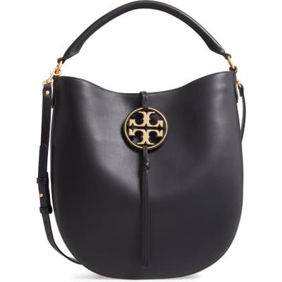 Tory Burch Miller Leather Hobo Bag - Black