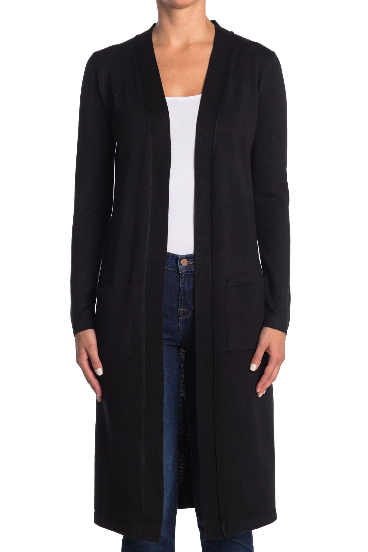 Image of M Magaschoni Long Sleeve Open Duster Cardigan