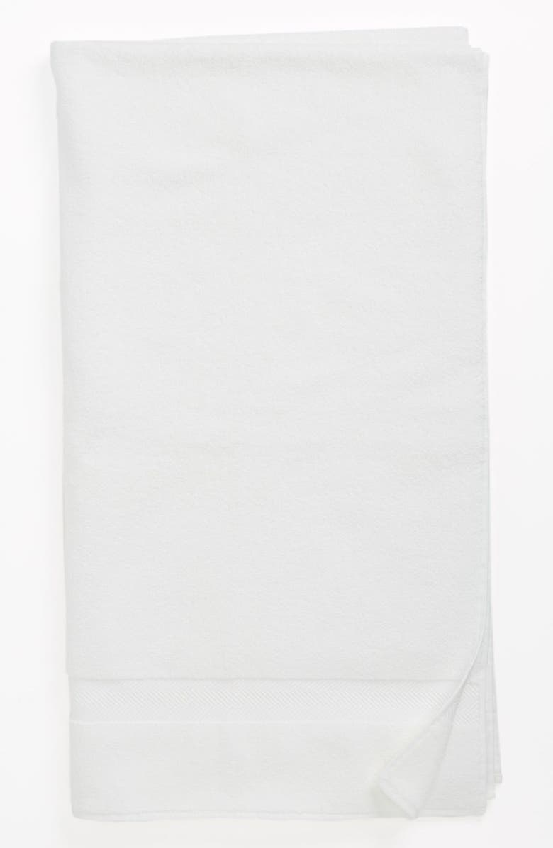NORDSTROM Hydrocotton Bath Sheet, Main, color, WHITE
