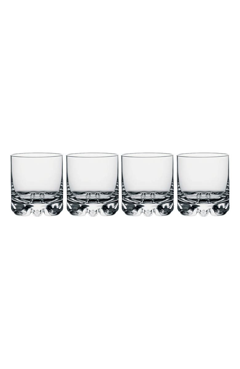 ORREFORS Erik Set of 4 Double Old Fashioned Glasses, Main, color, CLEAR