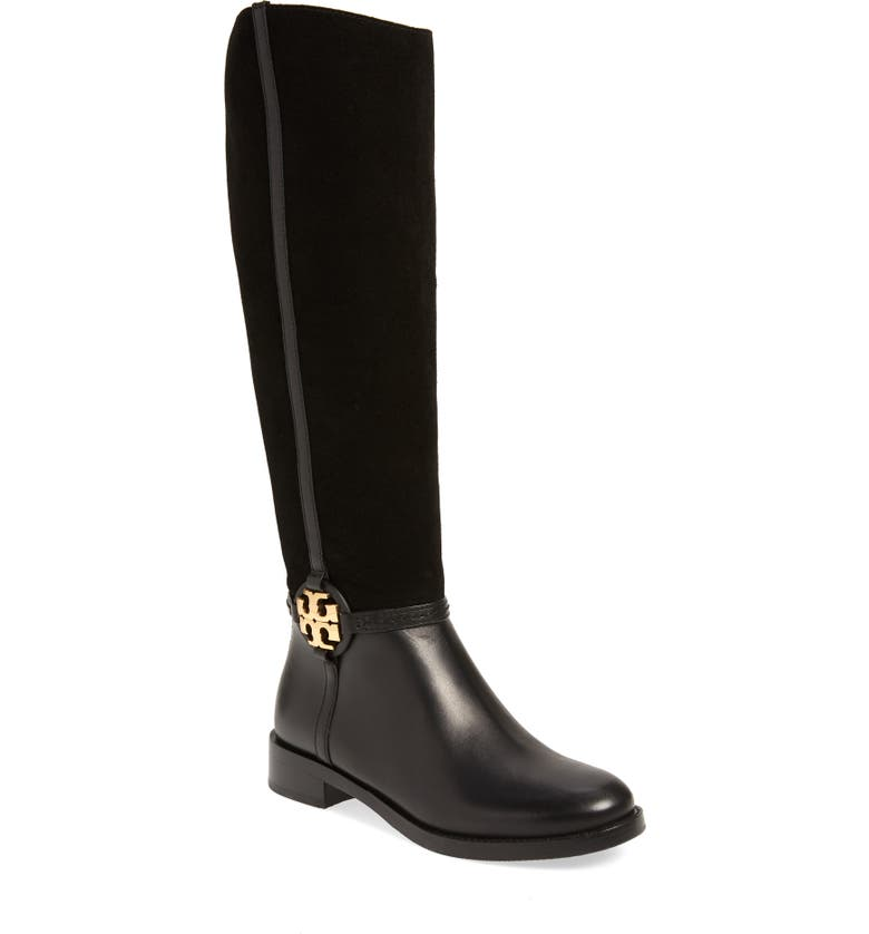 TORY BURCH Miller Knee High Boot, Main, color, PERFECT BLACK