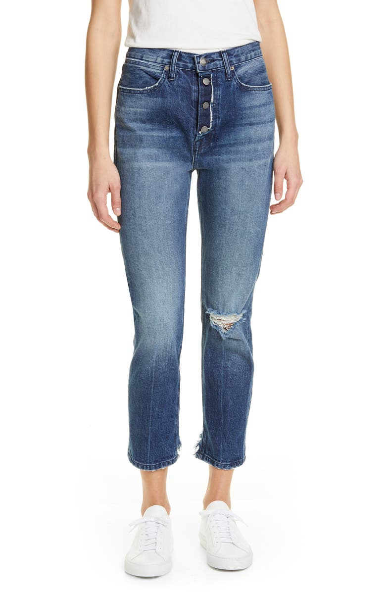 FRAME Le Pegged Crop Jeans, Main, color, HIGHBRIDGE