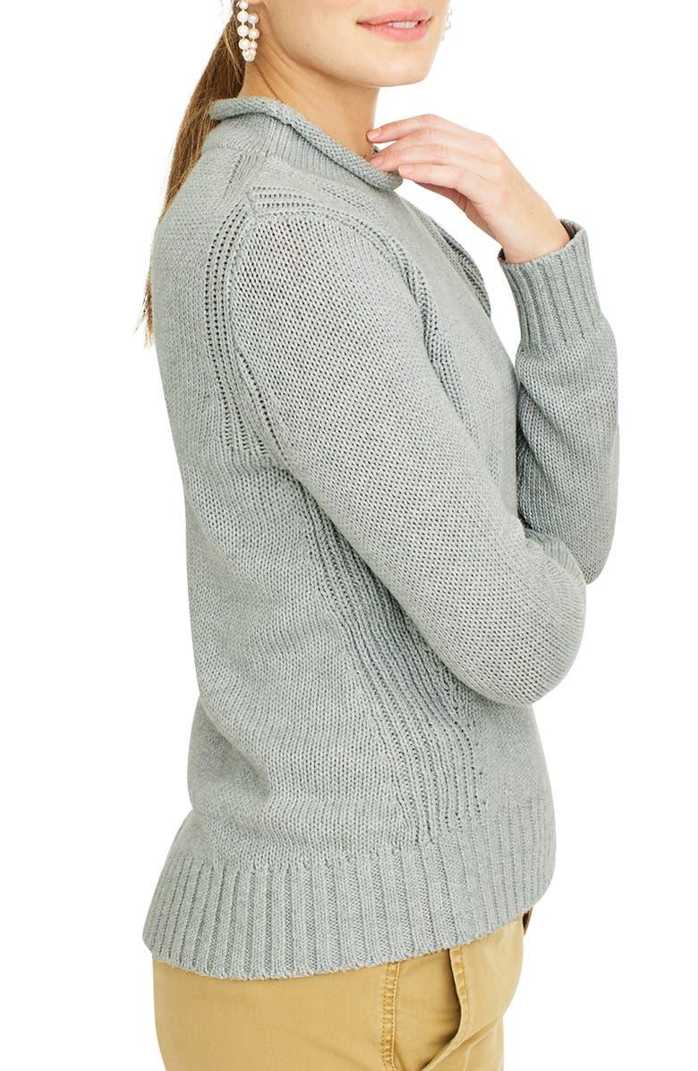 J.CREW 1988 Roll Neck Cotton Sweater, Main, color, 021