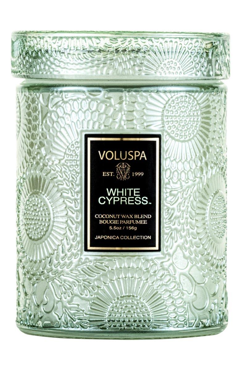 VOLUSPA Japonica White Cypress Jar Candle, Main, color, NO COLOR