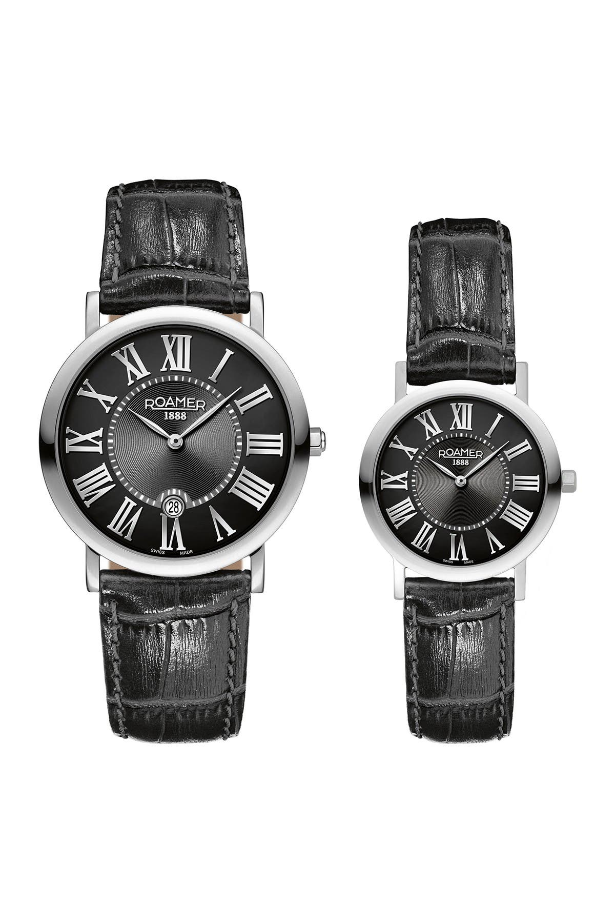 Image of Roamer Limelight His & Hers 2-Hand Date Watch Set