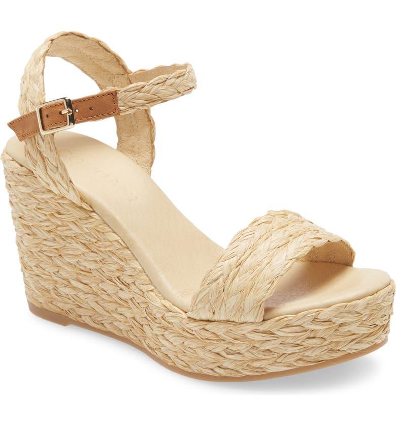 CORDANI Ella Platform Wedge Sandal, Main, color, NATURAL CANVAS
