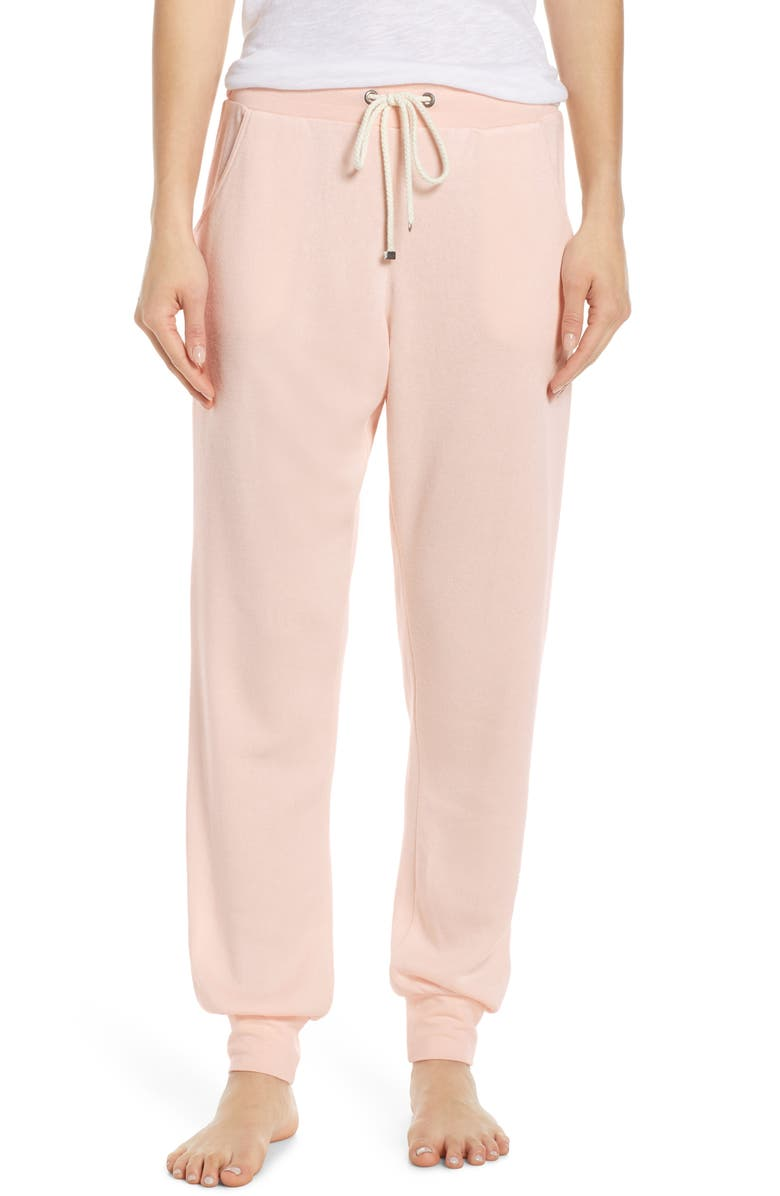 MAKE + MODEL Slumber Party Lounge Jogger Pants, Main, color, PINK PEONY BUD