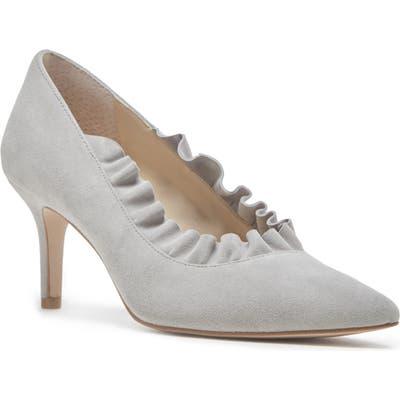 Sole Society Ruffle Trim Pointed Toe Pump- Grey