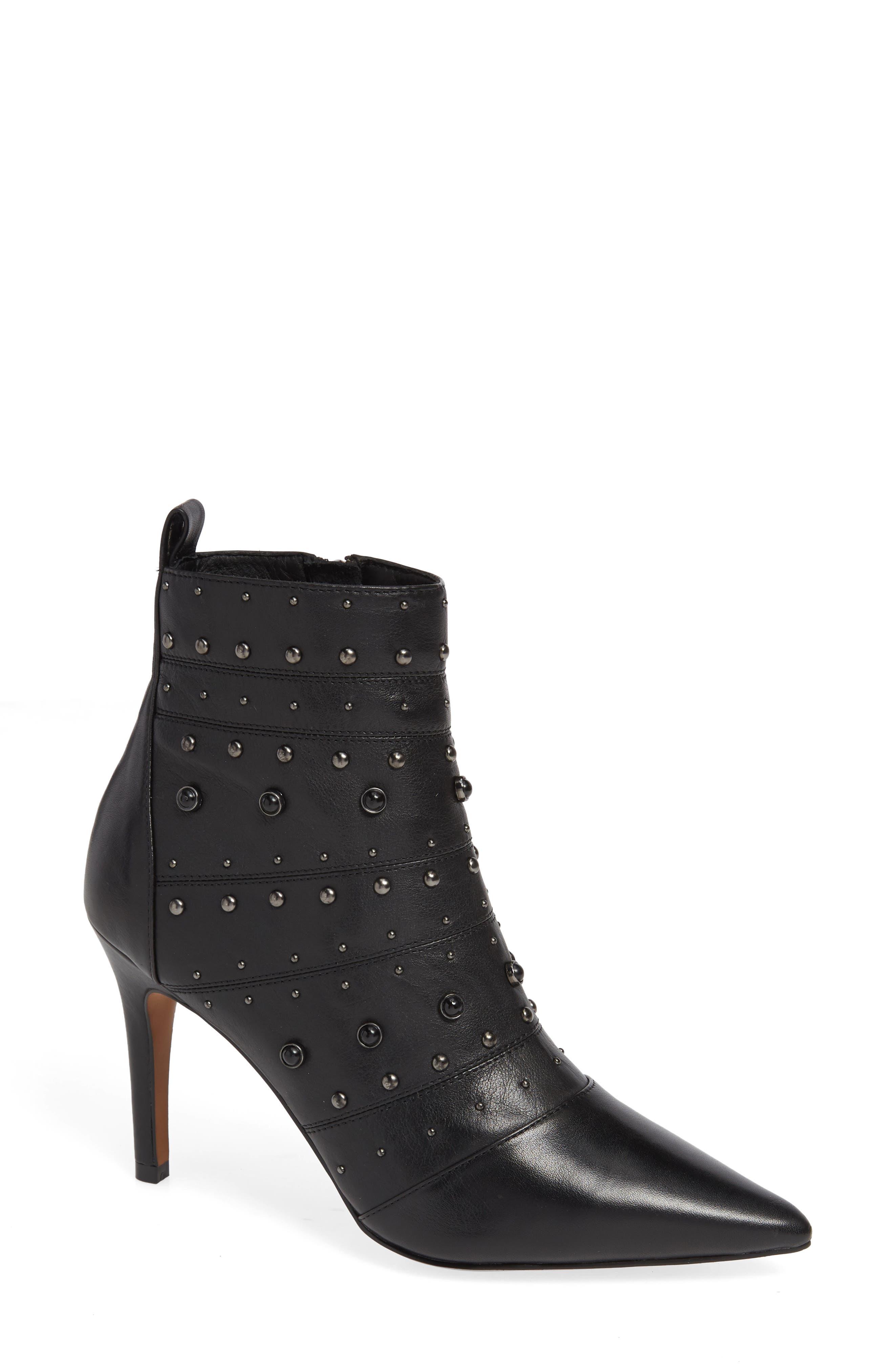 Linea Paolo Nara Studded Bootie- Black