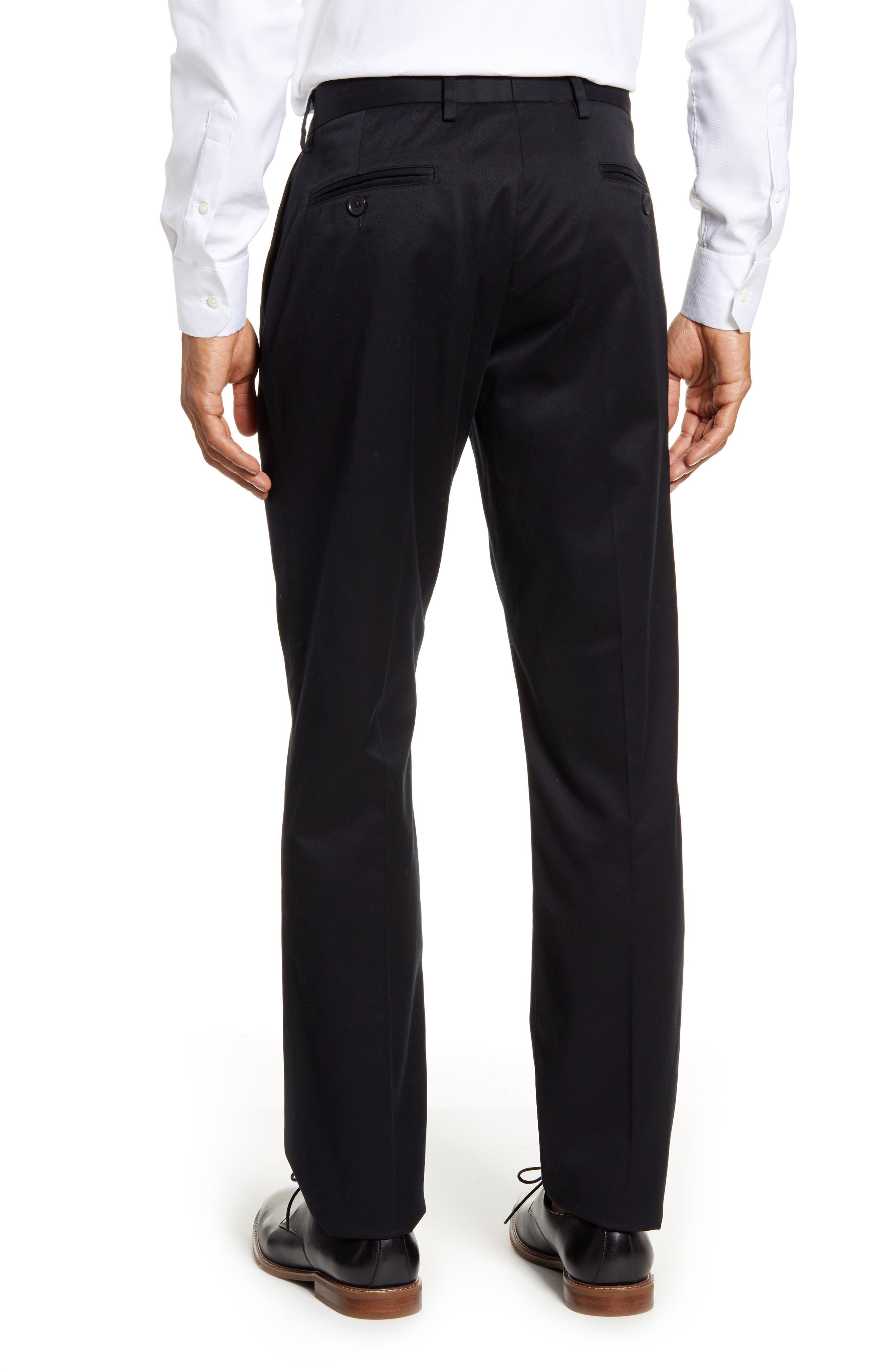 ,                             Athletic Fit Non-Iron Chinos,                             Alternate thumbnail 2, color,                             BLACK CAVIAR