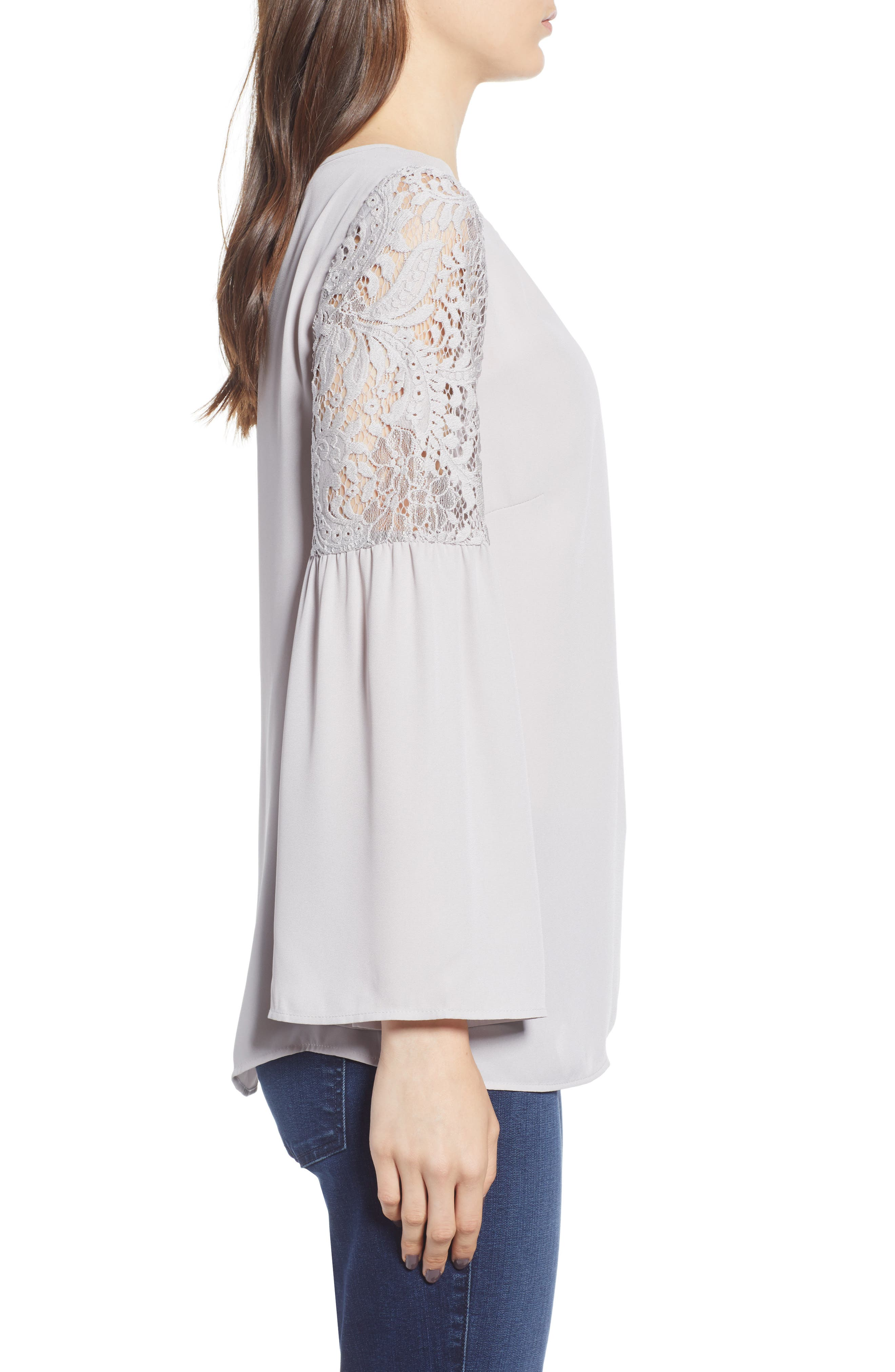 ,                             Lace Bell Sleeve Top,                             Alternate thumbnail 10, color,                             050