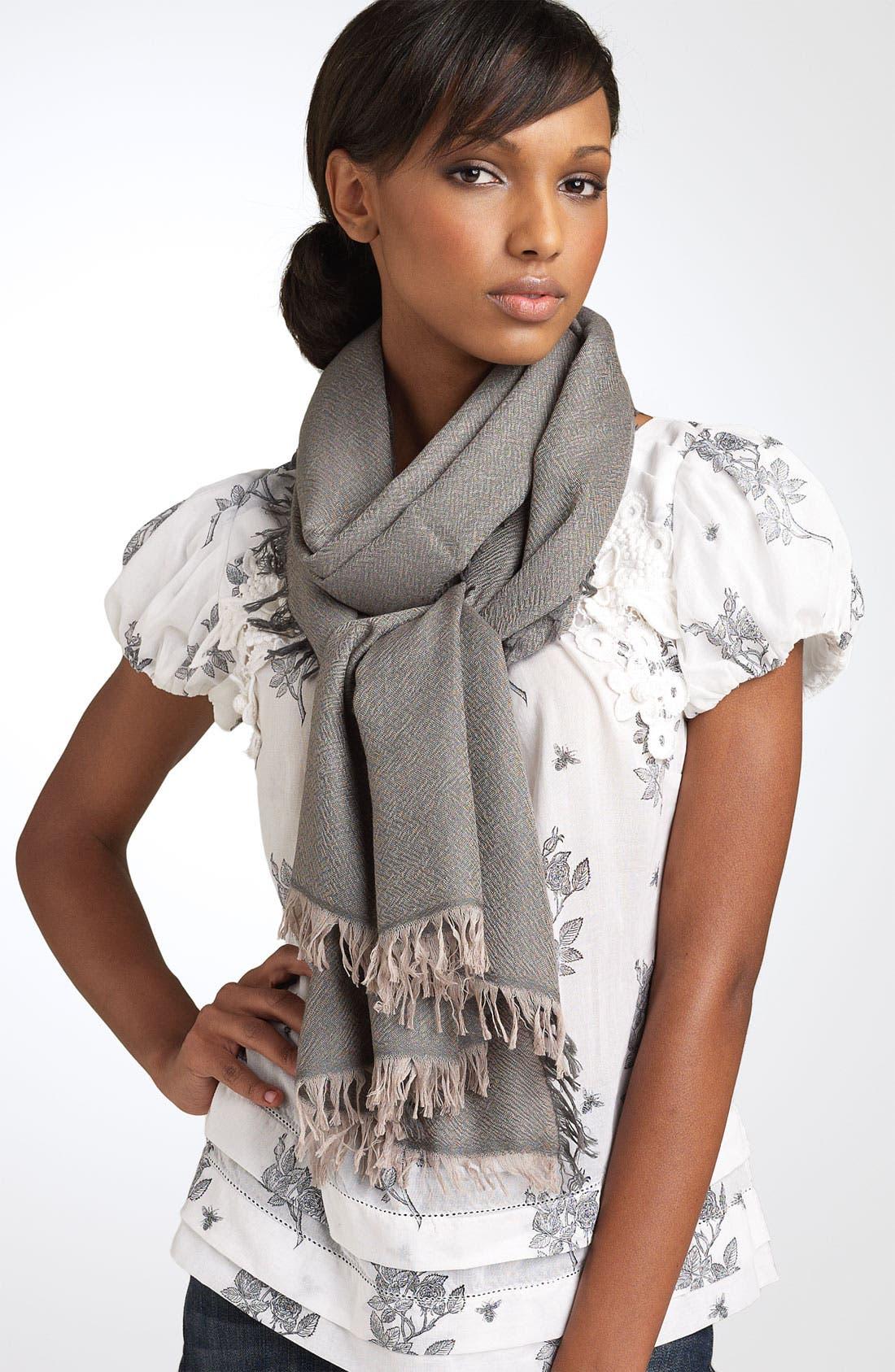 ,                             'Eyelash' Colorblock Cashmere Wrap,                             Main thumbnail 19, color,                             240