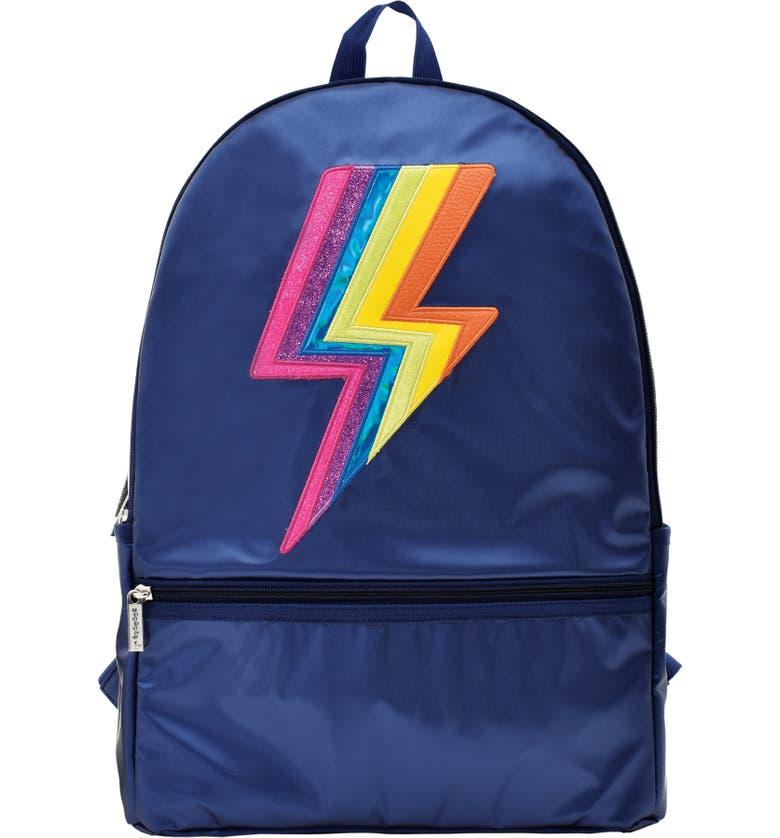 ISCREAM Metallic Lightning Bolt Backpack, Main, color, 410