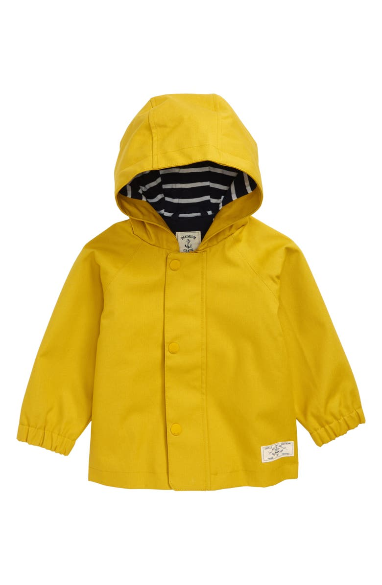 JOULES Coast Waterproof Hooded Raincoat, Main, color, ANTIQUE GOLD