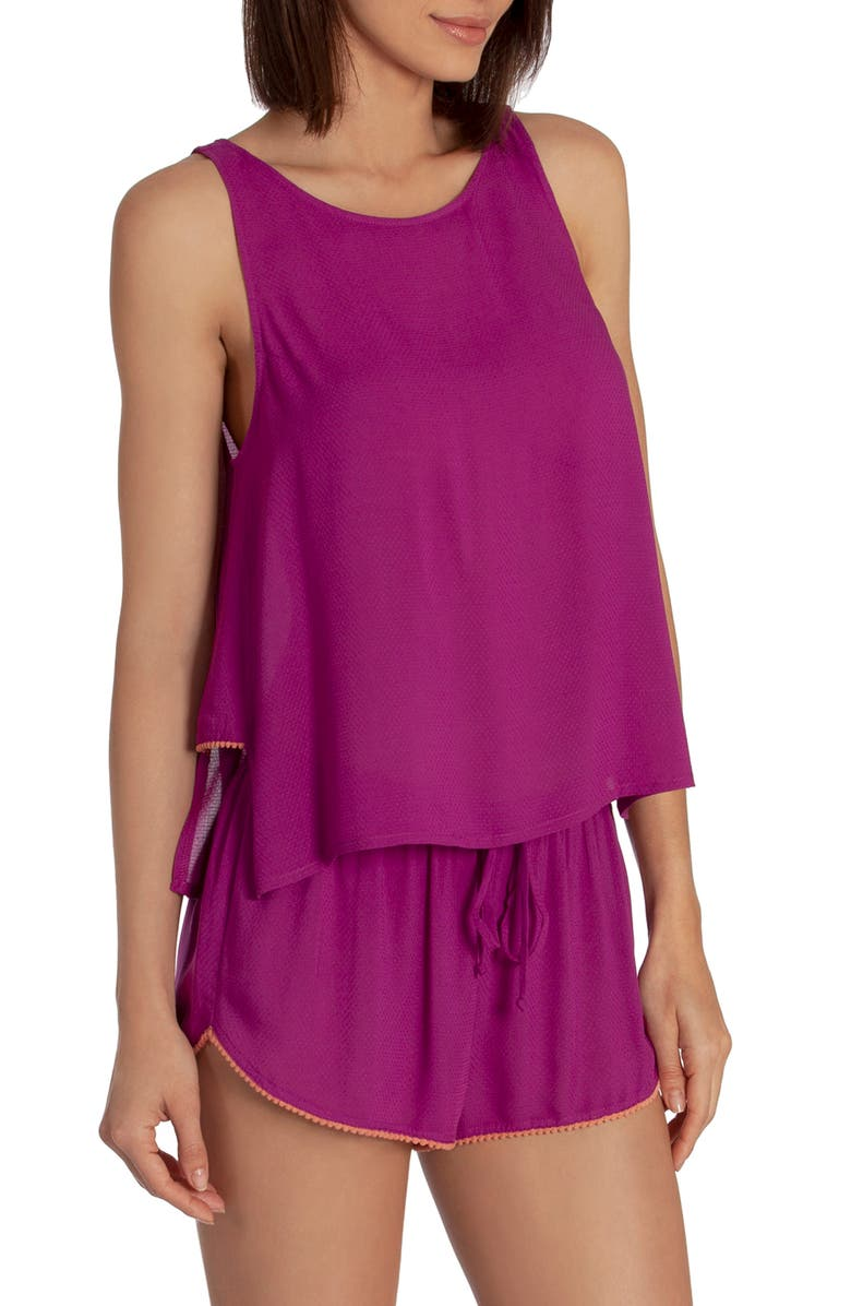 MIDNIGHT BAKERY Phoenix Short Pajamas, Main, color, MAGENTA