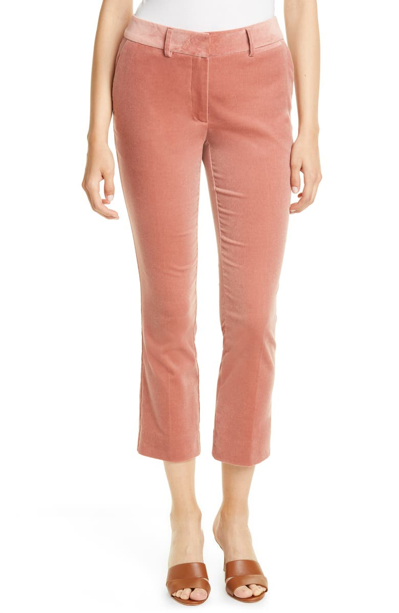 FRAME Perfect Slim Crop Trousers, Main, color, OLD ROSE