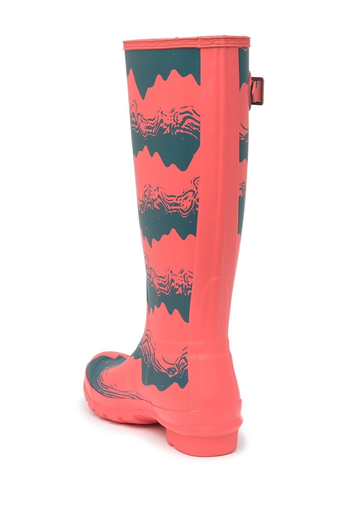 Hunter Original Tall Storm Stripe Print Boot
