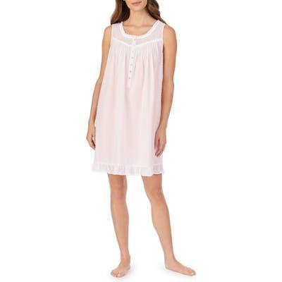 Eileen West Swiss Dot Nightgown, Pink