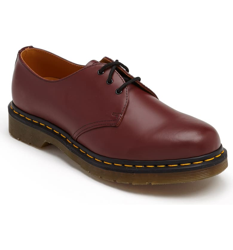 DR. MARTENS Plain Toe Derby, Main, color, CHERRY SMOOTH