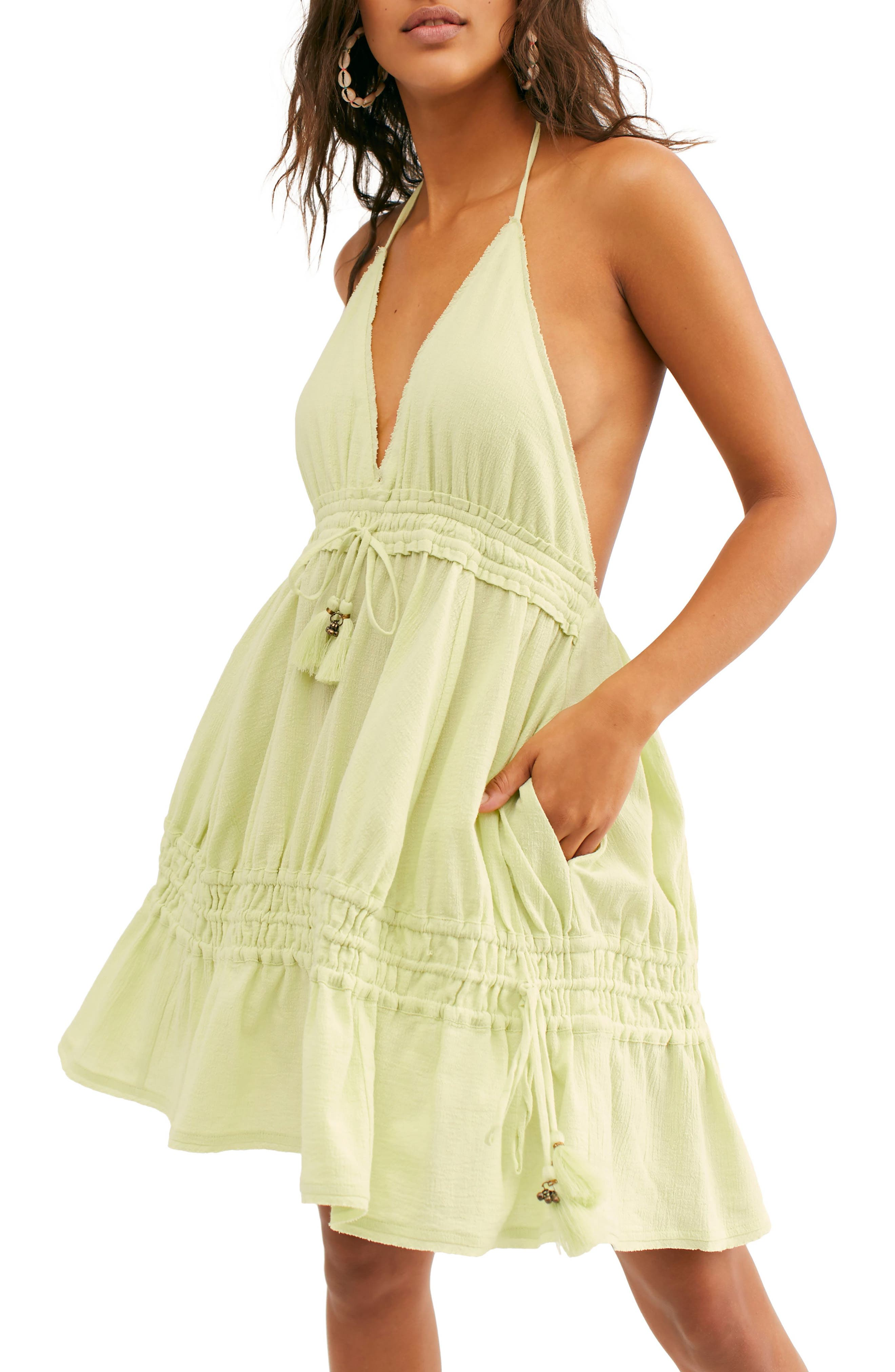 Endless Summer By Free People Signorina Halter Sundress, Green