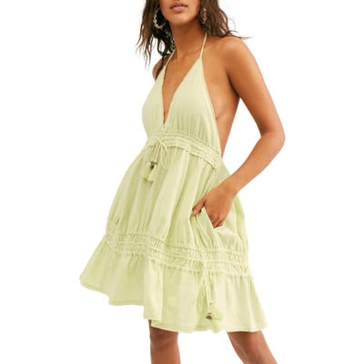 Endless Summer By Free People Signorina Halter Sundress, Green