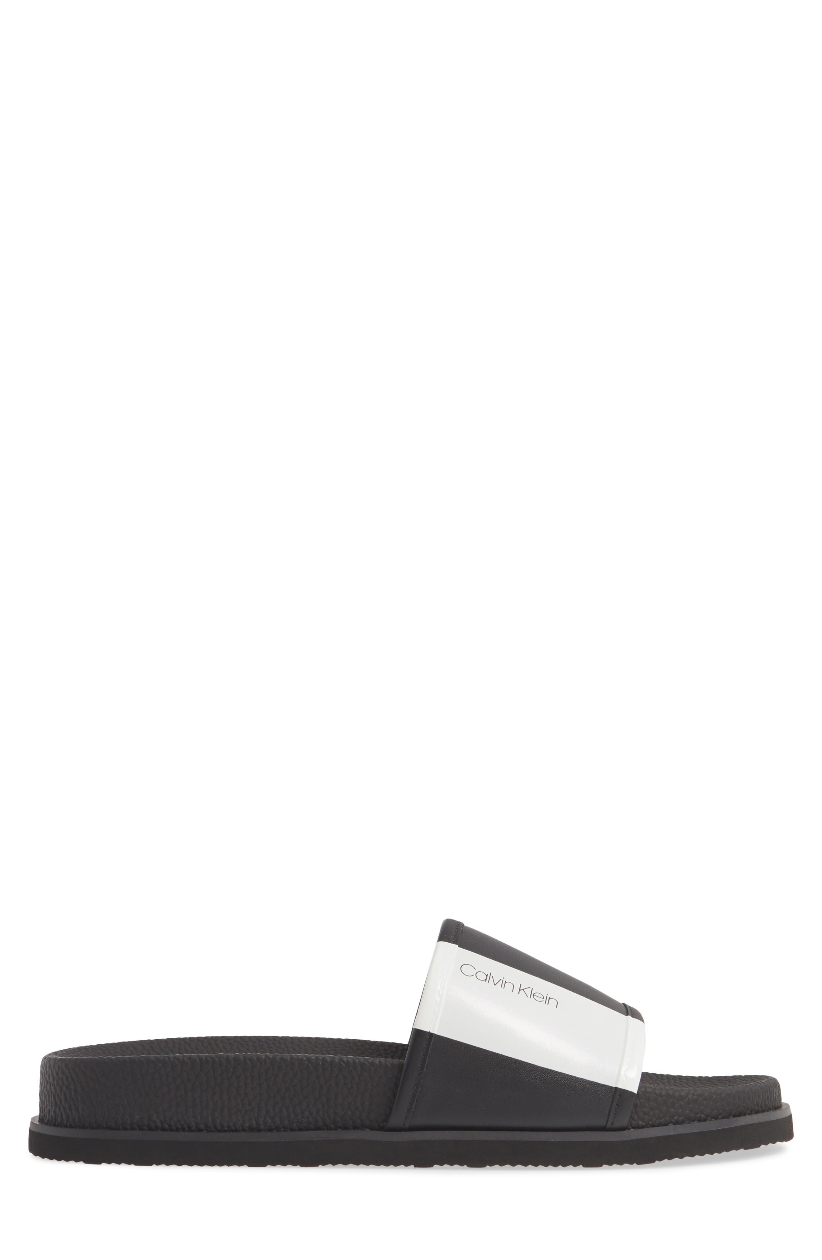 ,                             Mackee Slide Sandal,                             Alternate thumbnail 3, color,                             BLACK