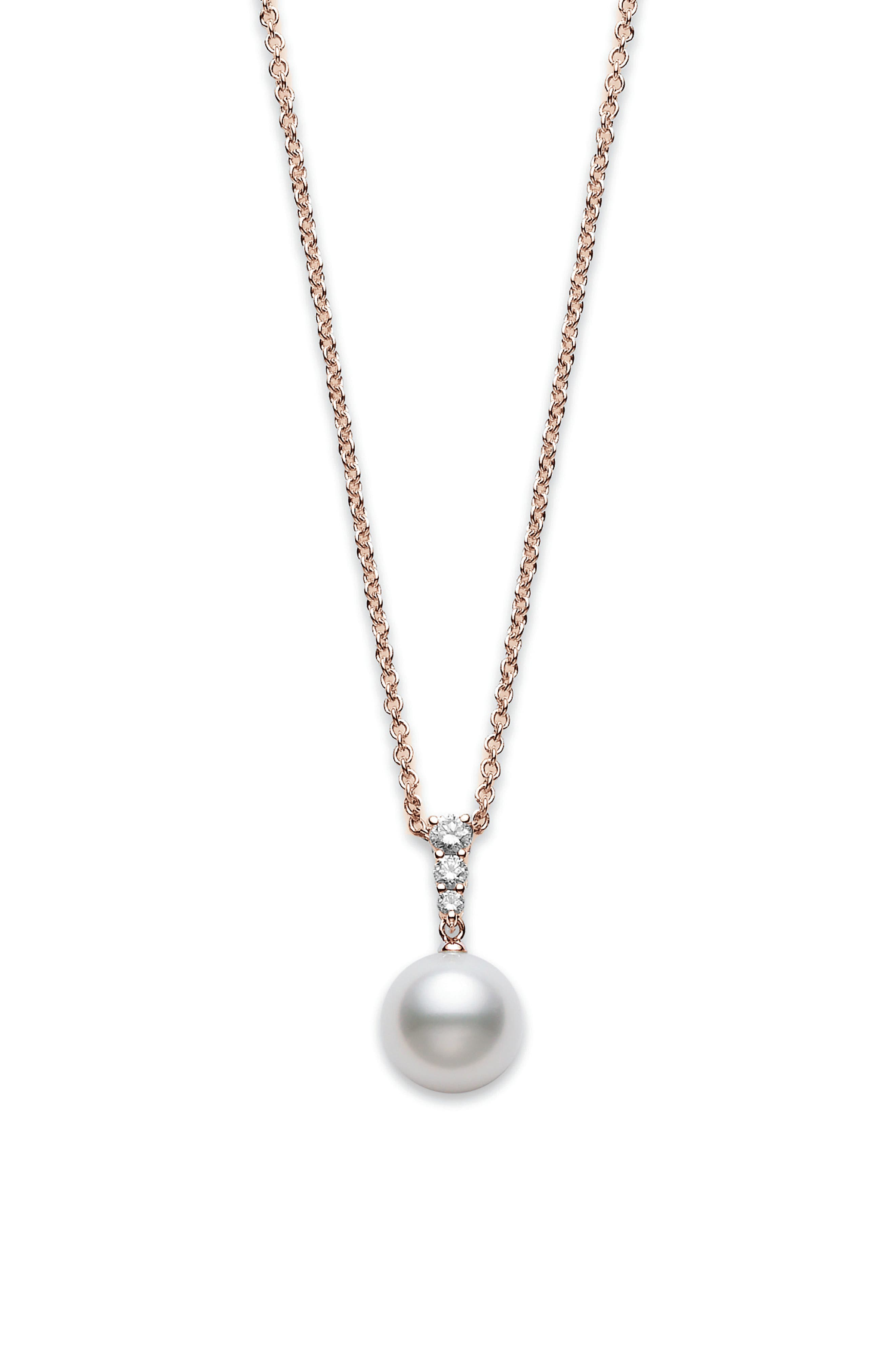 Morning Dew Diamond & Pearl Necklace