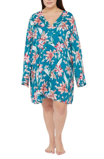 La Blanca Downs FLYAWAY ORCHID COVER-UP TUNIC