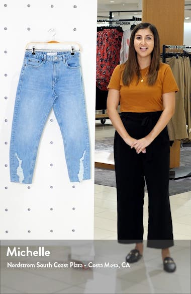 Dundee Ripped Cuff Straight Leg Jeans, sales video thumbnail