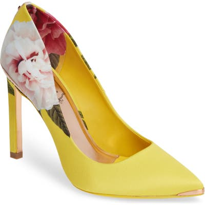 Ted Baker London Melnip Floral Print Pump, Yellow
