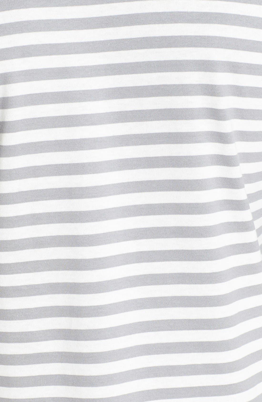 ,                             Long Sleeve Stripe Crewneck T-Shirt,                             Alternate thumbnail 5, color,                             GREY