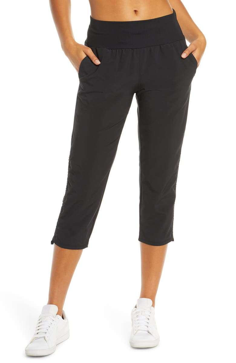 ZELLA Desire Recycled Crop Pants, Main, color, BLACK