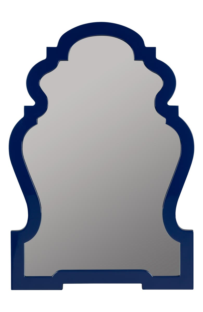 GEORGE AND CO Scalloped Wall Mirror, Main, color, BLUE