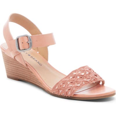 Lucky Brand Jaliena Wedge Sandal, Pink