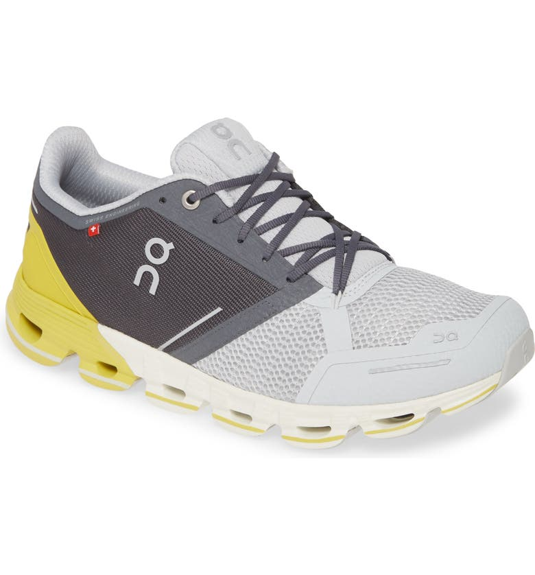 ON RUNNING Cloudflyer Running Shoe, Main, color, GREY/ LIME