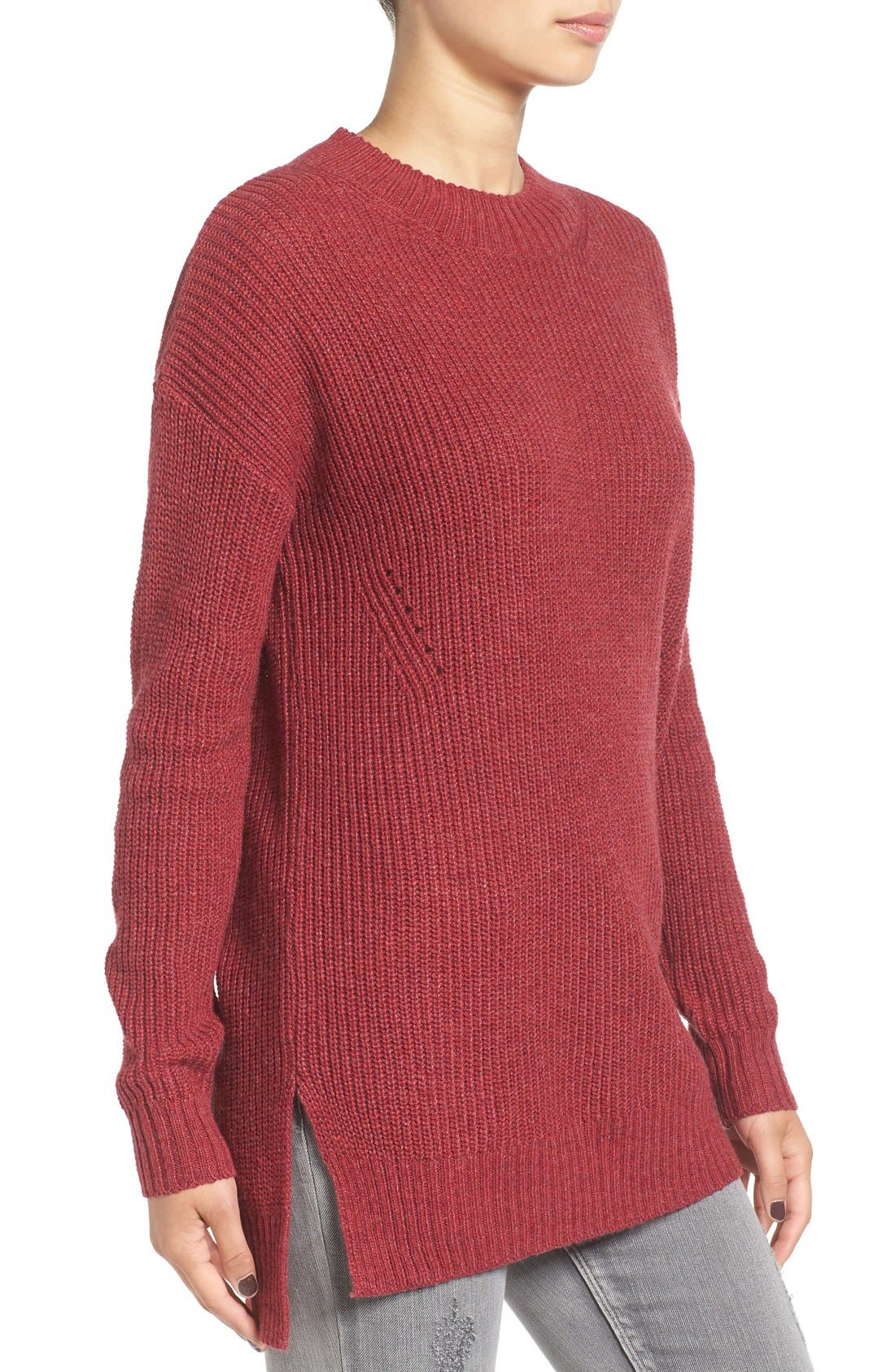 ,                             Ribbed Mock Neck Pullover,                             Alternate thumbnail 29, color,                             601