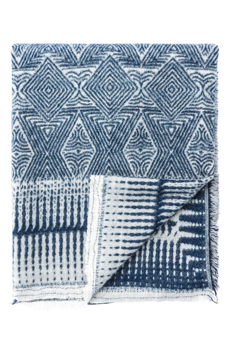 Hamlin Throw Blanket, Main, color, BLUE