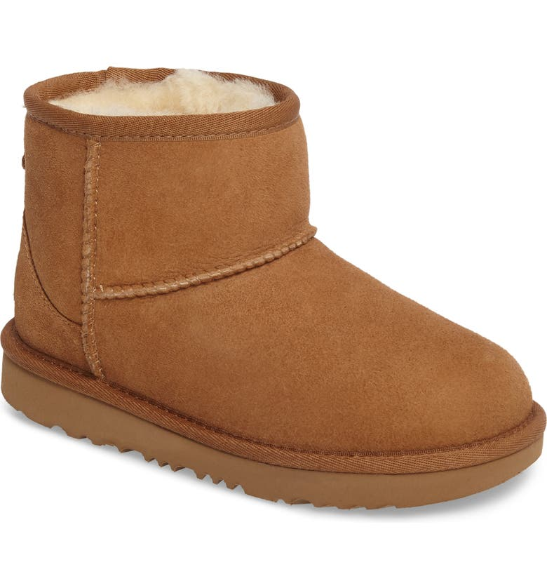 UGG<SUP>®</SUP> Classic Mini II Water-Resistant Genuine Shearling Boot, Main, color, CHESTNUT