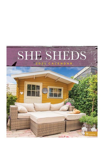 Image of TF Publishing 2021 She Sheds Wall Calendar