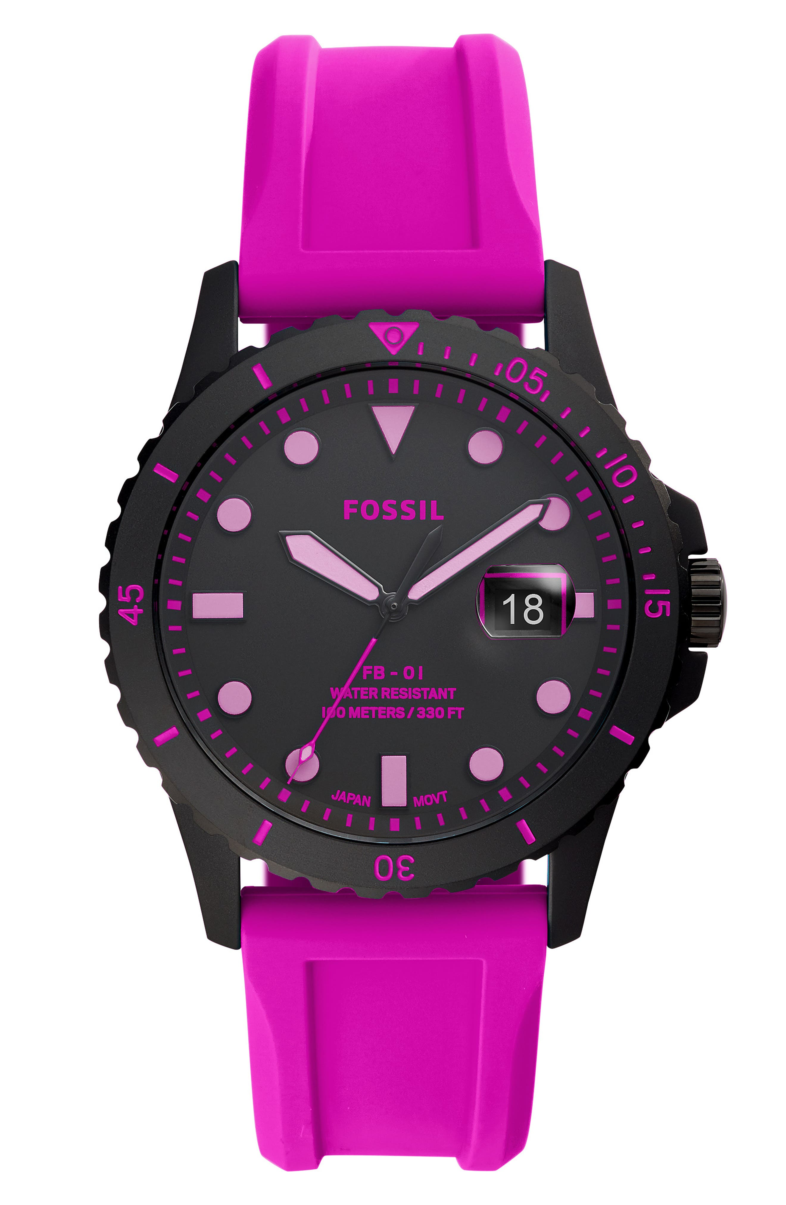 Image of Fossil RD BLK BLK STRAP