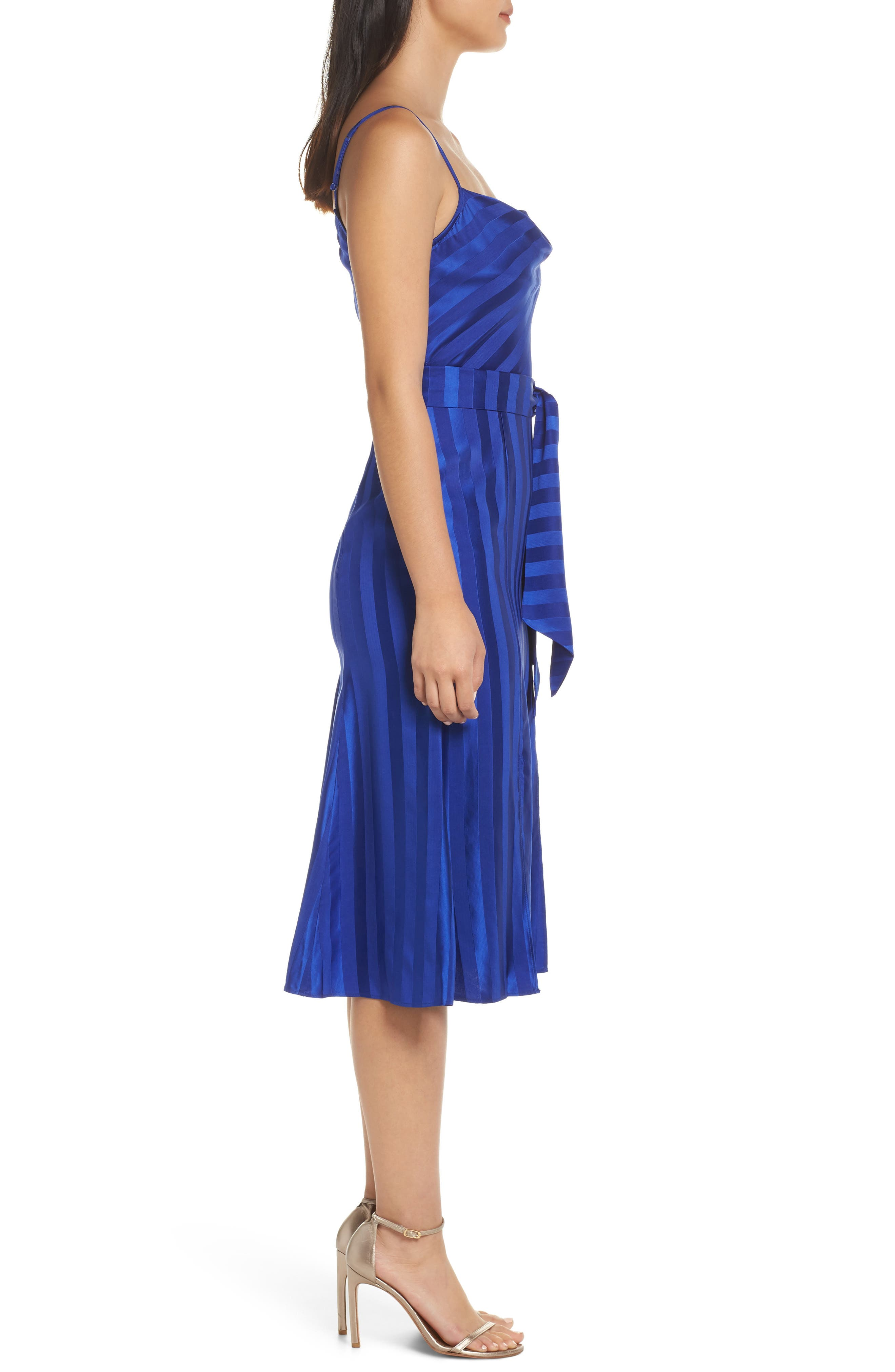 ,                             Abound Shadow Stripe Tea Length Dress,                             Alternate thumbnail 4, color,                             431