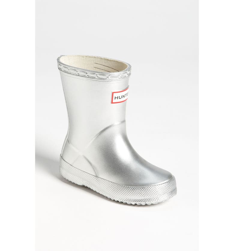 HUNTER 'Kid's First Gloss' Rain Boot, Main, color, 040