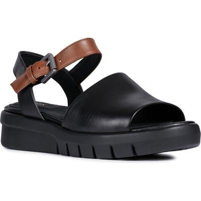 Geox Wimbley Platform Sandal - Black